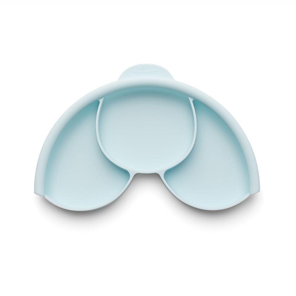 美國Miniware - 微兒天然寶貝用品系列-聰明矽膠分隔盤-薄荷綠-矽膠分隔盤-薄荷綠*1