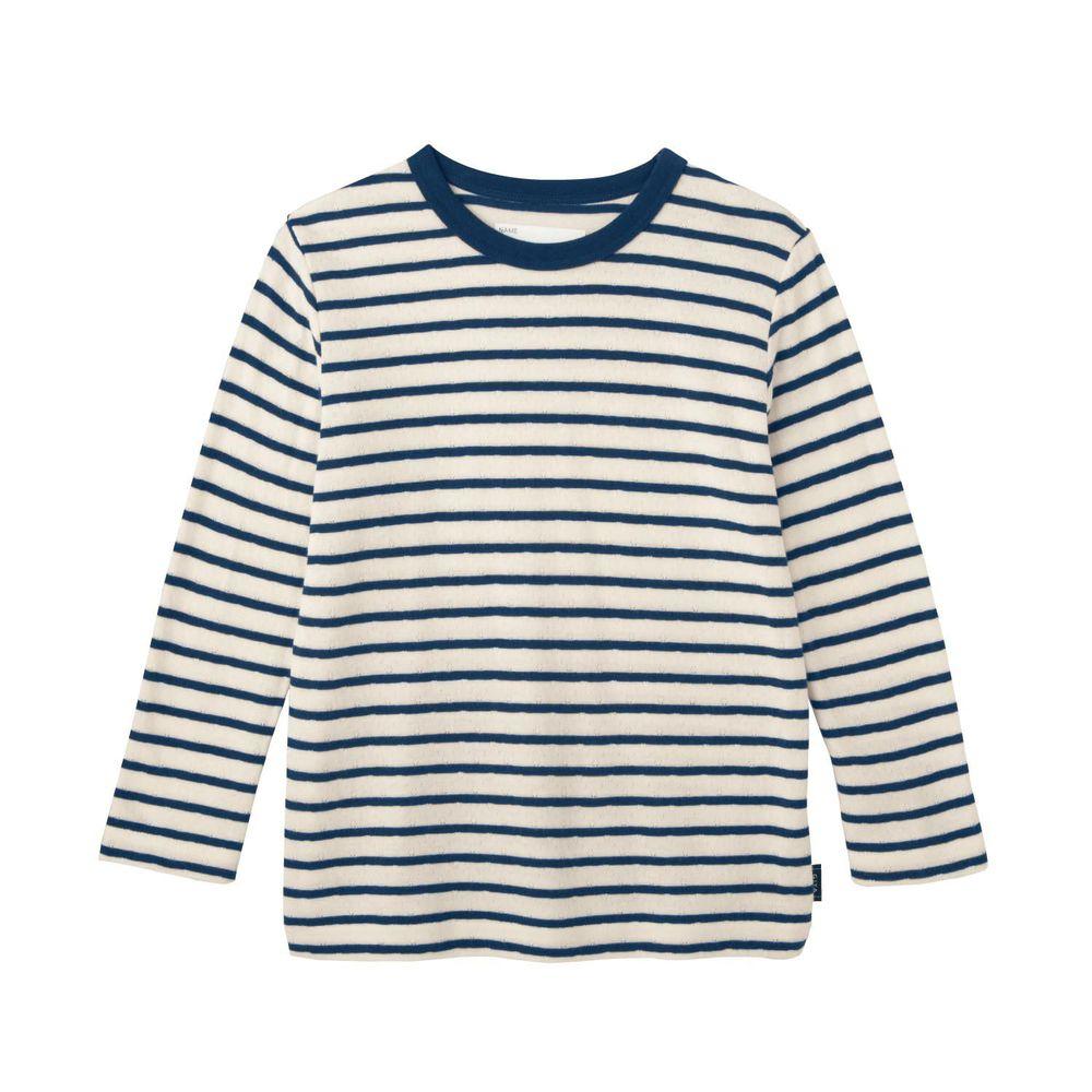 日本千趣會 - GITA 純棉輕薄舒適長T-橫條紋-深藍