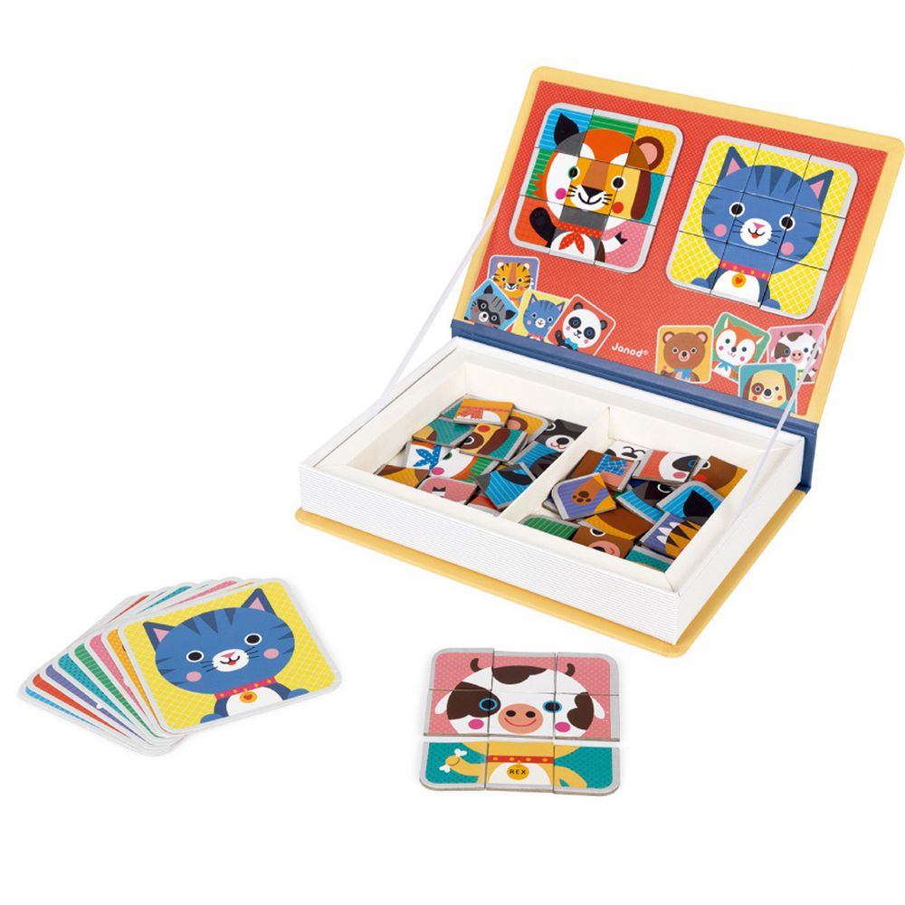 Janod - 磁鐵遊戲書-動物拼圖
