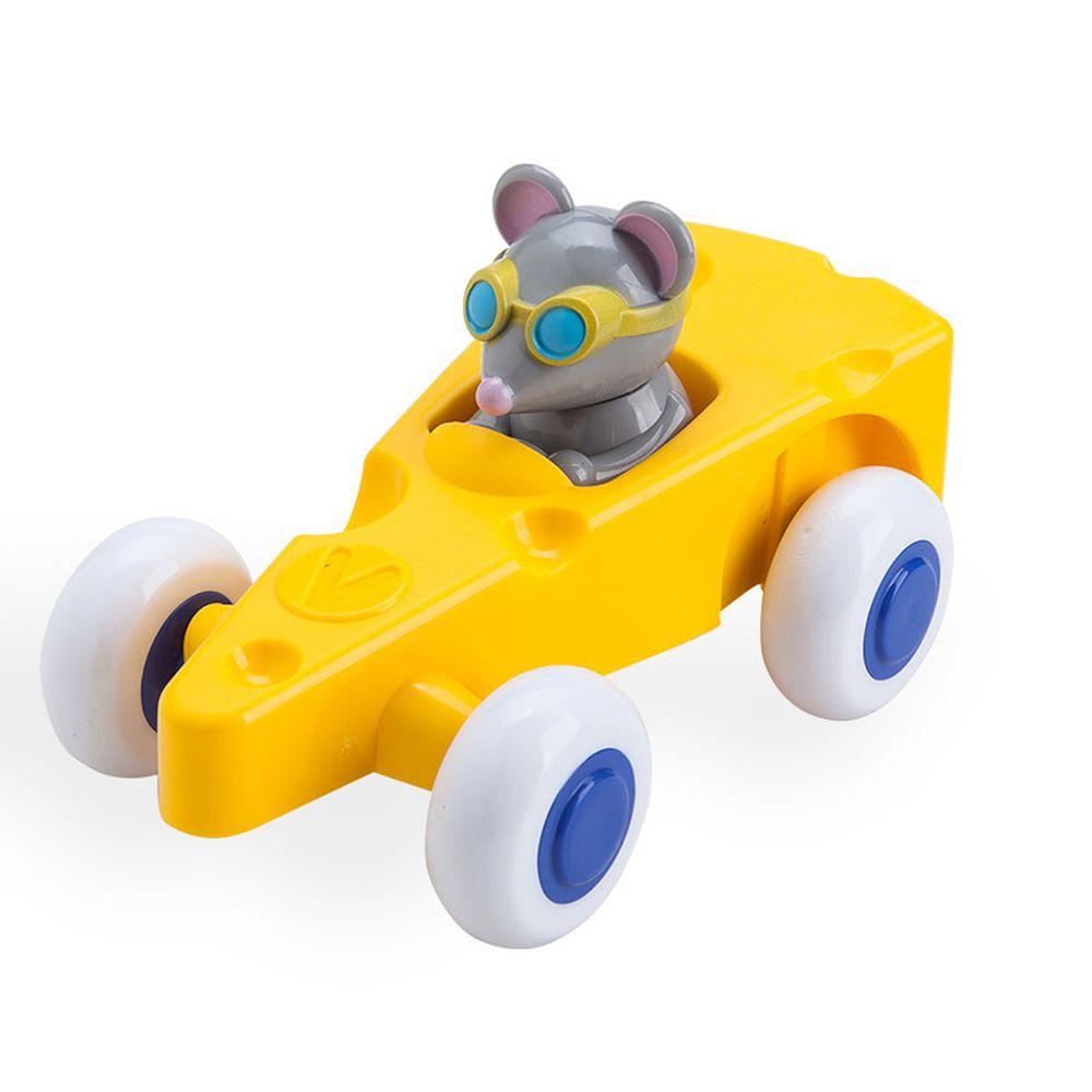 瑞典Viking toys - 【新品】動物賽車手-起司麥斯-14cm