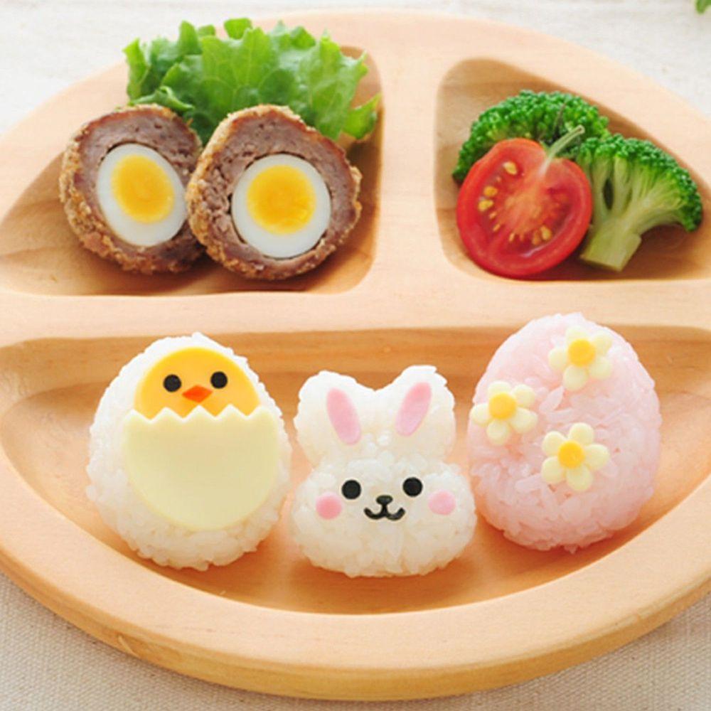 日本 Arnest - 米飯模具組-一口兔兔小雞-1顆約20g飯量