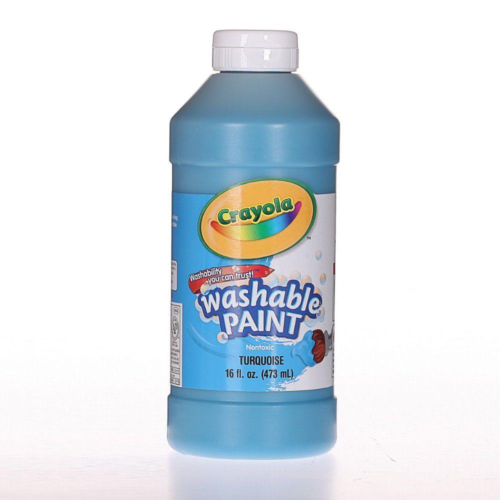 Crayola繪兒樂 - 可水洗兒童顏料16OZ-綠藍色