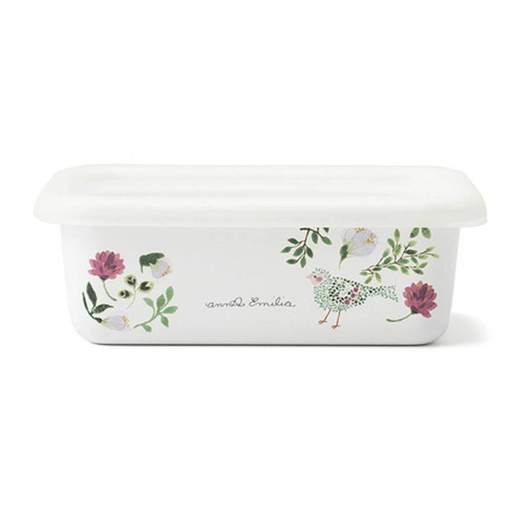 FUJIHORO 富士琺瑯 - 安娜艾米利亞系列-琺瑯烘焙保鮮盒淺型-S-容量:0.42L 重量:0.25kg