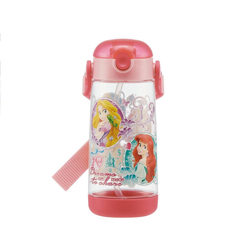 日本 SKATER - 兒童PET吸管水壺(480ml)-迪士尼公主-粉