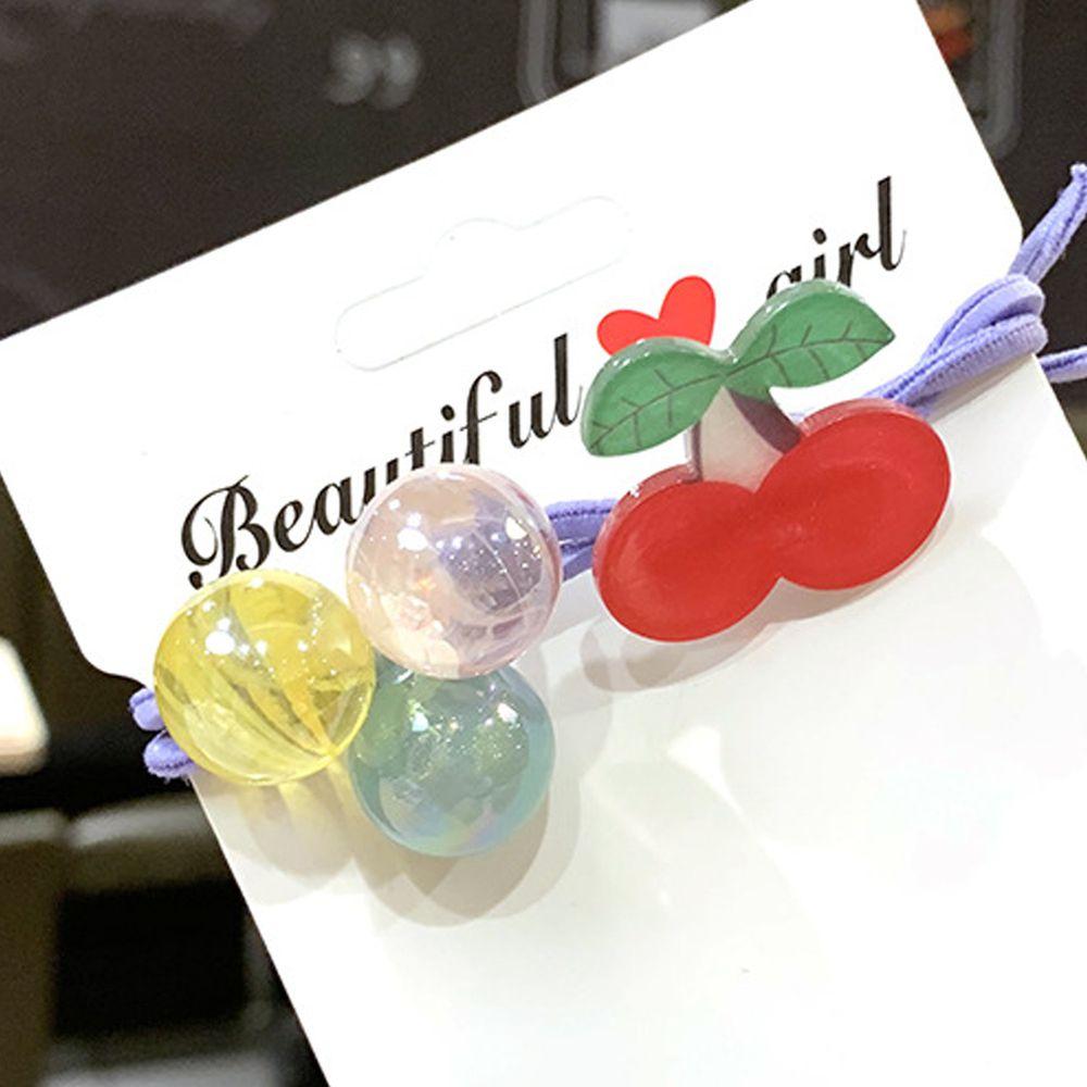 閃亮水果糖髮圈-櫻桃