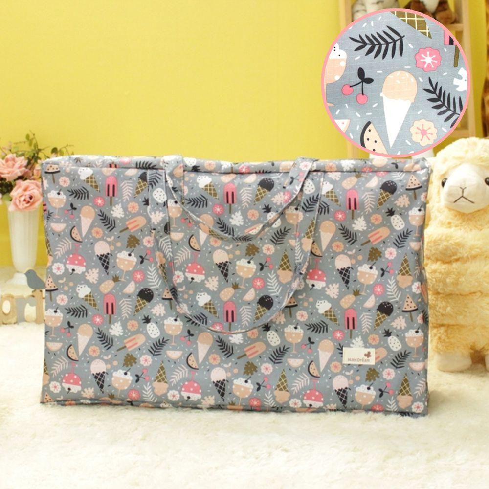 韓國 - 防潑水厚款睡袋收納袋(L)-冰淇淋 (65*35*15cm)