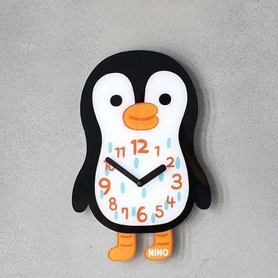 韓國NINO HapPy TimE童趣時鐘-QQ酷企鵝 (24*36cm)