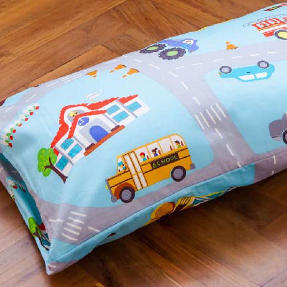 鴻宇 HONGYEW - 防螨抗菌100%美國棉兒童纖維枕-交通樂園-1778