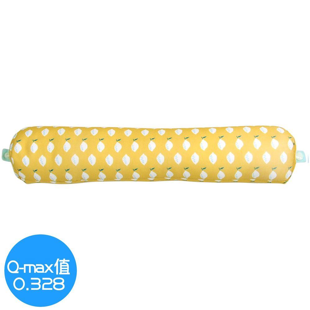日本 DAIKAI - 接觸涼感U型午睡枕/電腦靠手枕(附釦)-清新檸檬-黃 (40x8.5cm)