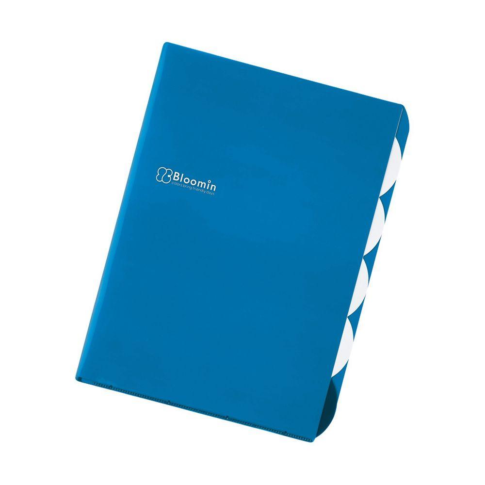 日本文具 LIHIT - L型五層收納文件夾-天空藍 (A4)-團購專案