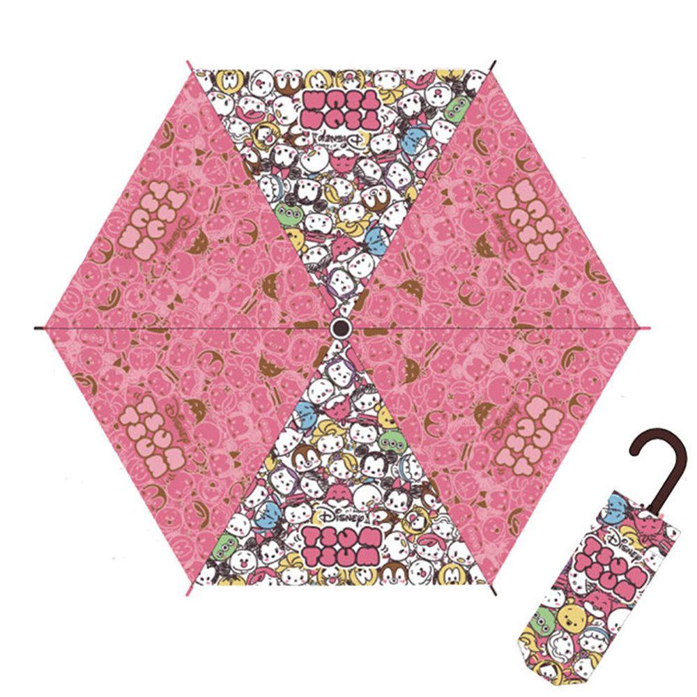 日本代購 - 卡通折疊雨傘-Tsum Tsum-粉 (53cm(125cm以上))