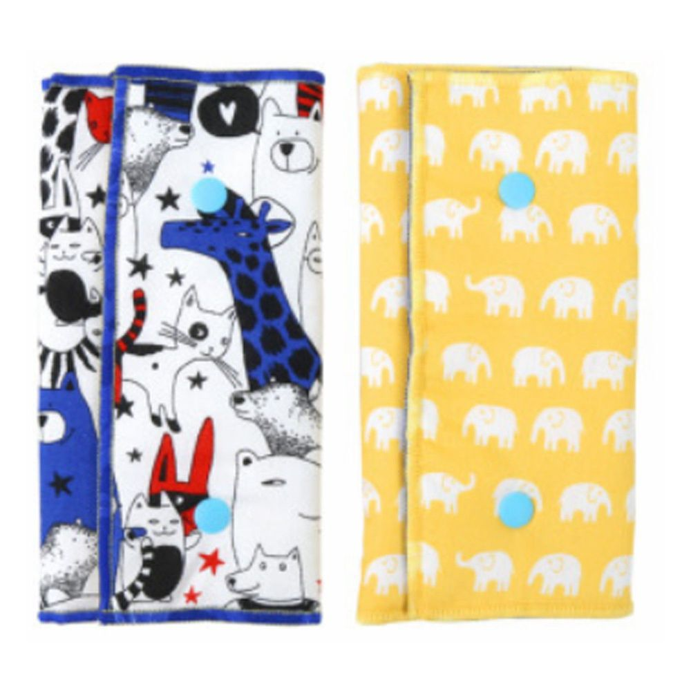 YODA - 優的氣墊口水巾-造型動物園 (一組二入)