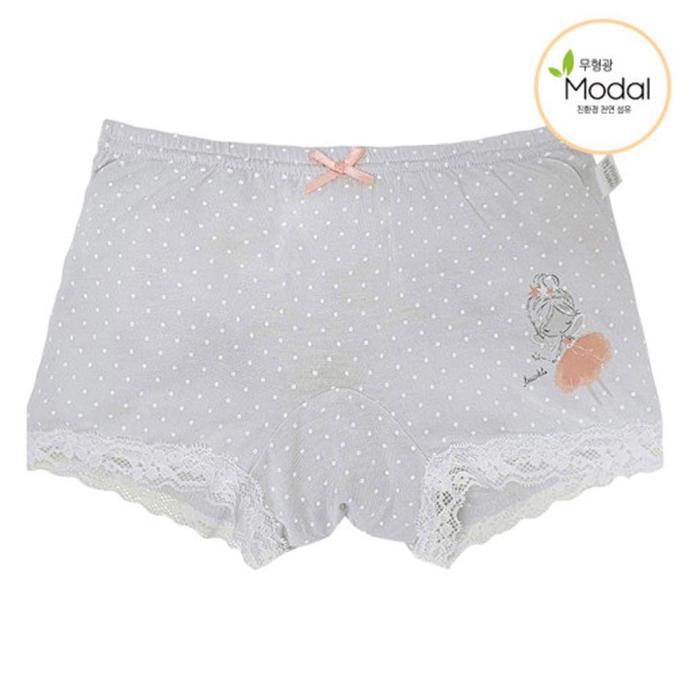 韓國 Ppippilong - 天絲莫代爾四角褲(女寶)-芭蕾女孩