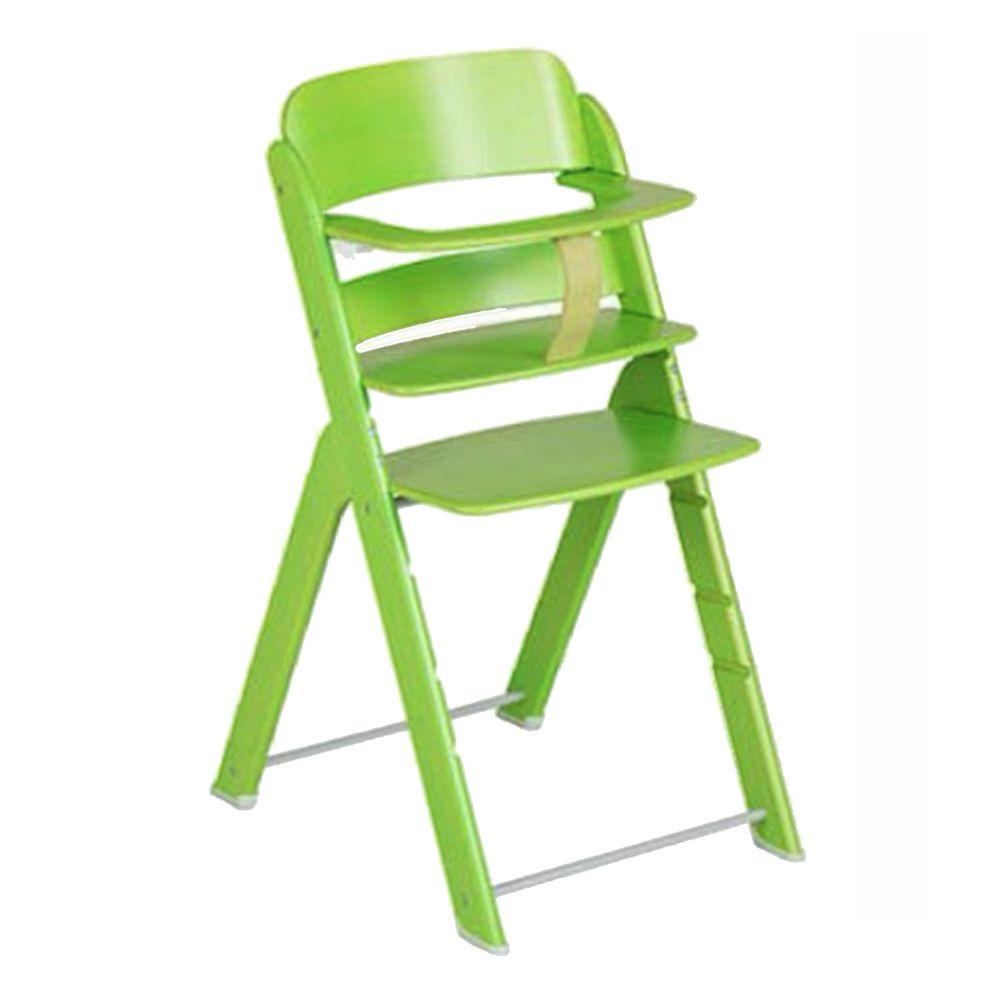 義大利 Pali - 艾莉堤卡木頭成長餐椅-綠色-單椅(含安全帶)