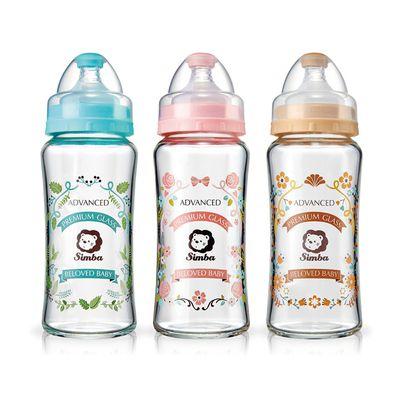 蘿蔓晶鑽寬口葫蘆玻璃大奶瓶