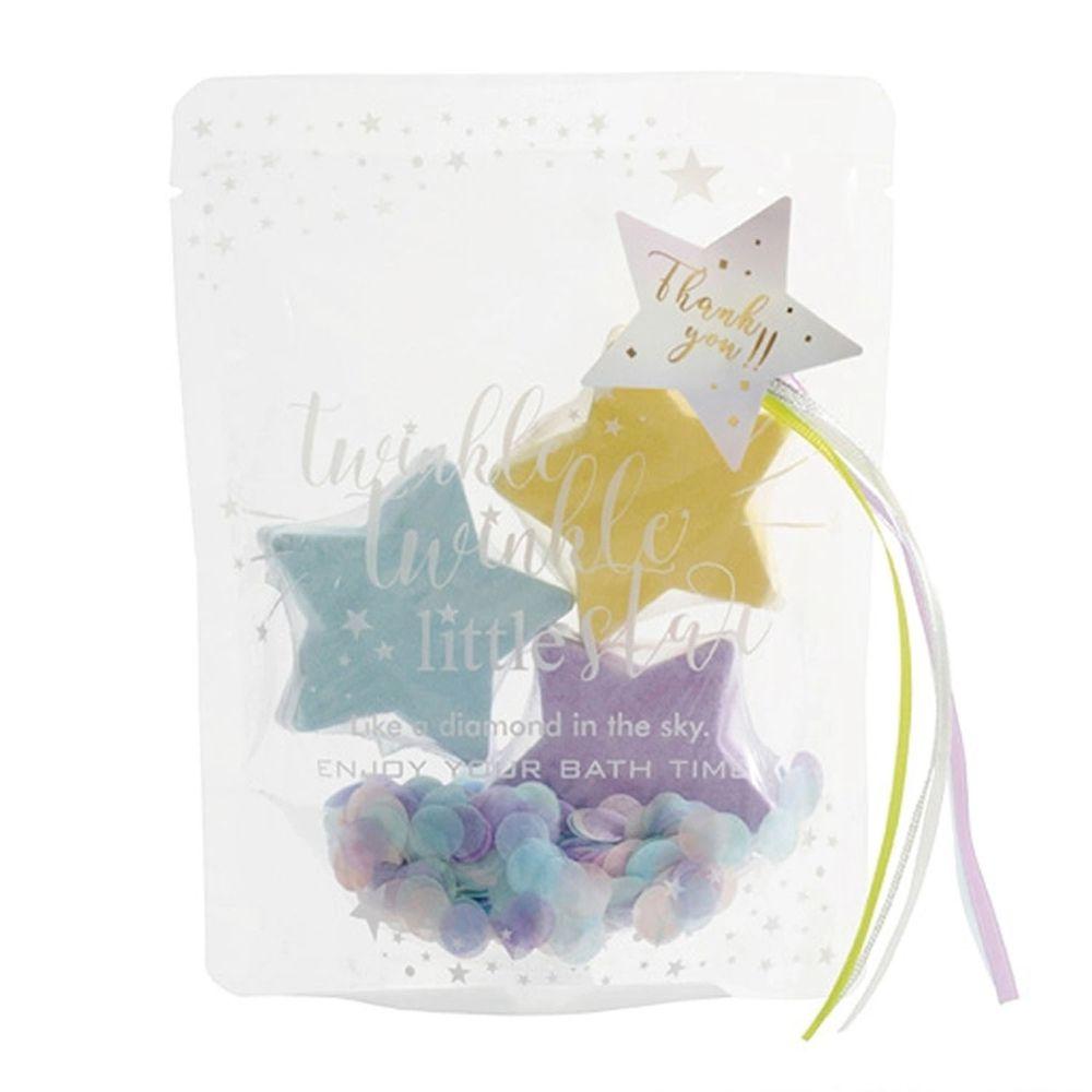 日本 NOL - 星星造型入浴劑-超值3入組-粉紫/粉黃/粉藍綠
