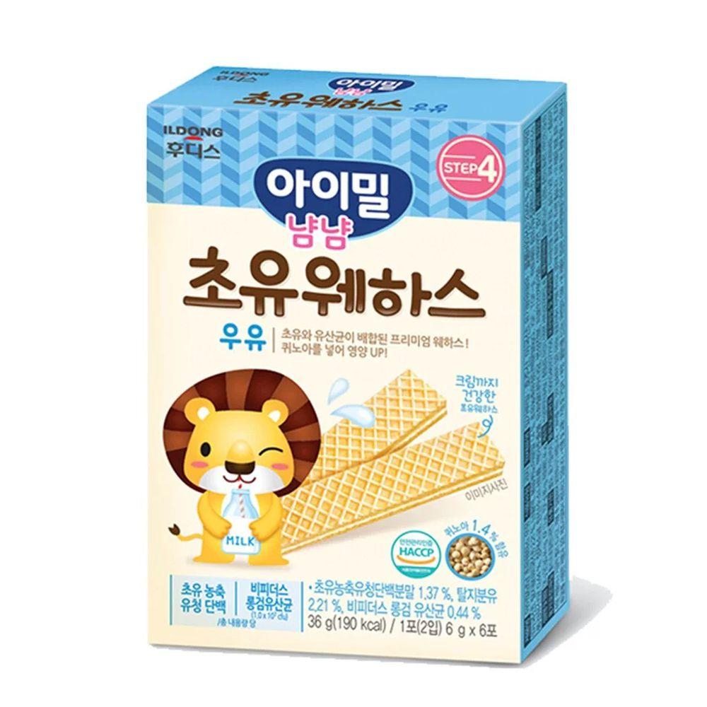 韓國Ildong Foodis日東 - 藜麥威化餅-初乳牛奶