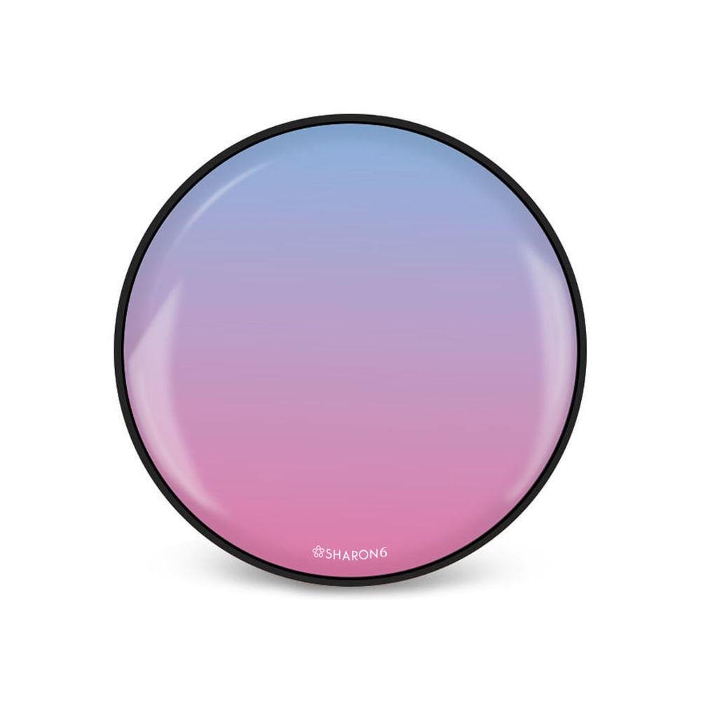 韓國 SHARON6 - 手機氣囊支架-黑色款-漸層粉藍