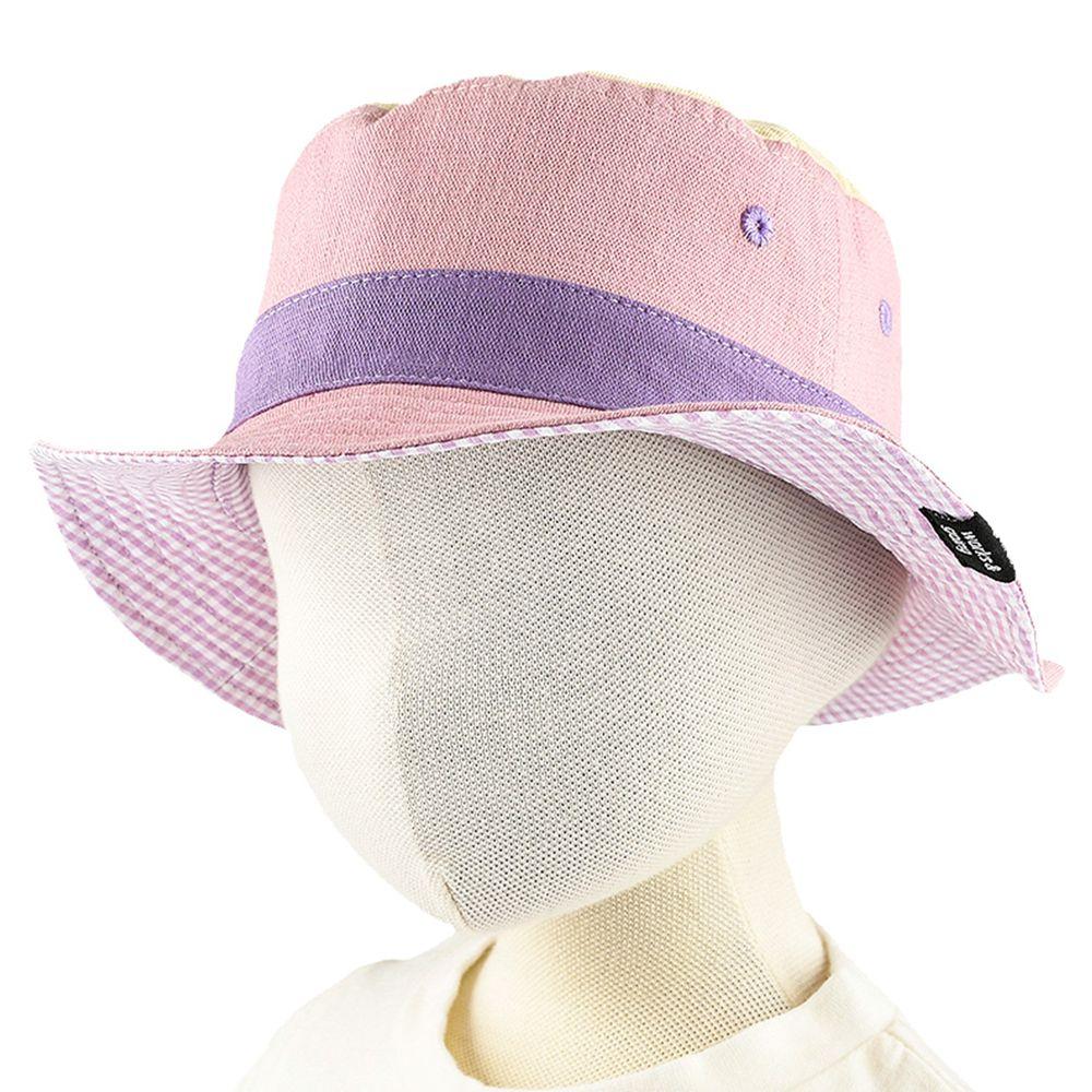 akachan honpo - 拚色雙面帽-粉紅色