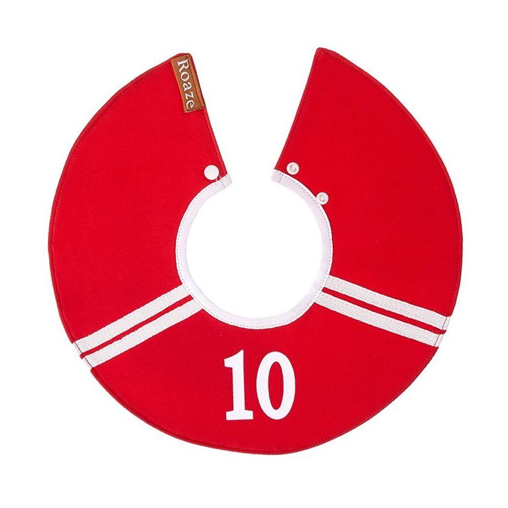 柔仕 - 純真款圍兜-10號球員(紅)
