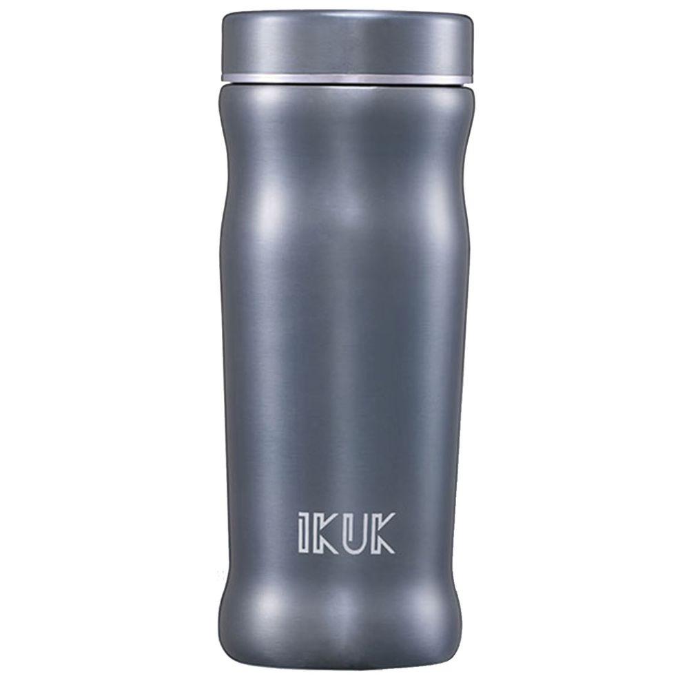 IKUK - 真空雙層內陶瓷曲線保溫杯-藍色 (300ML)