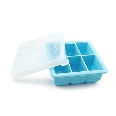 矽膠副食品分裝盒/製冰盒-6 格-藍色-6格x70mL