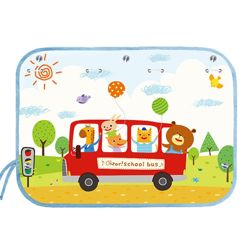 JoyNa - JoyNa車用吸盤式遮光布簾-紅色公車