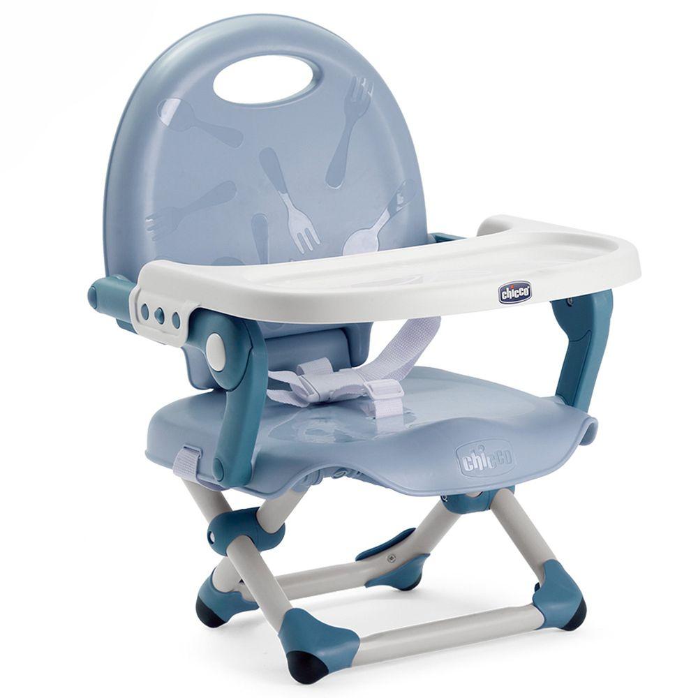 義大利 chicco - Pocket snack攜帶式輕巧餐椅-空氣藍