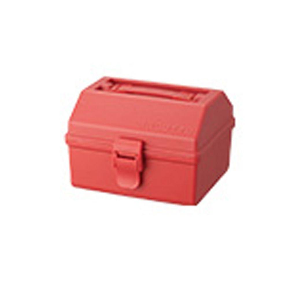 日本天馬 - HACOTTO 方形多功能PP手提式收納工具箱-珊瑚紅