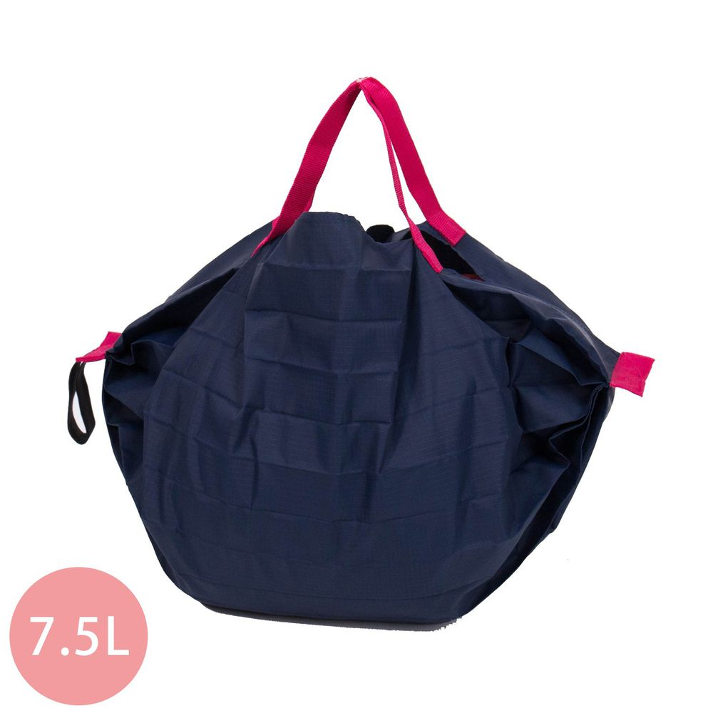 日本 MARNA - Shupatto 秒收摺疊購物袋-海軍藍 (S(30x26cm))-耐重3kg / 7.5L