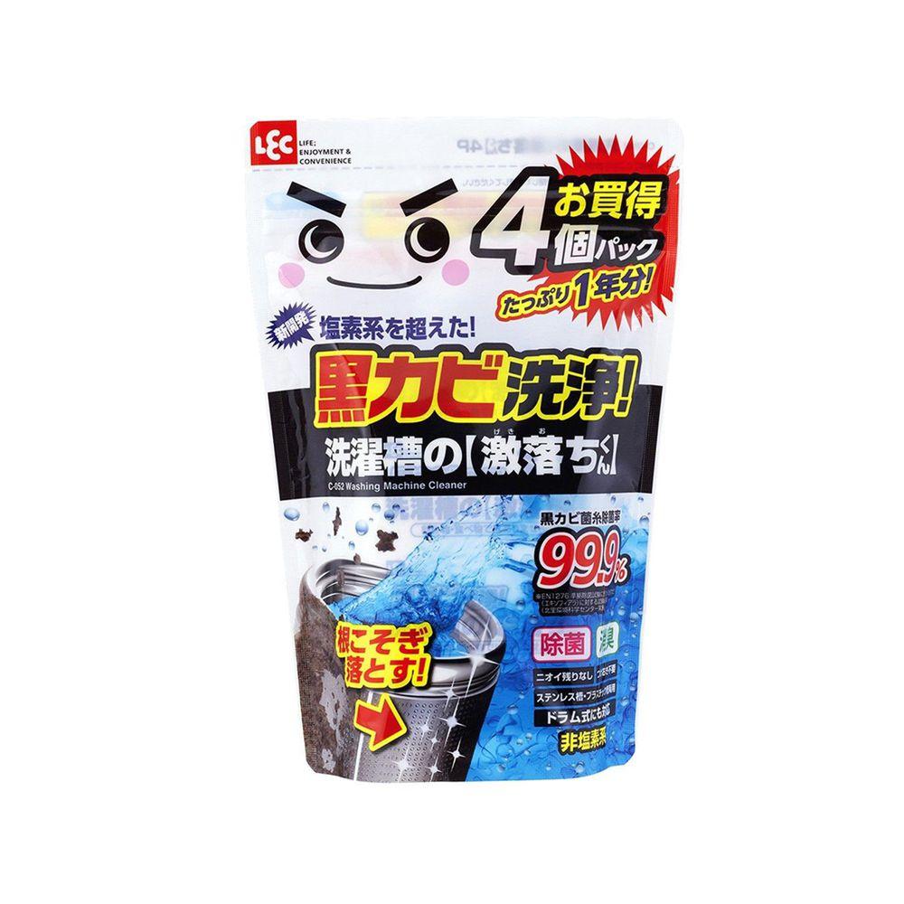 日本 LEC - 激落洗衣槽專用清潔劑-粉劑經濟組-80g x 4入