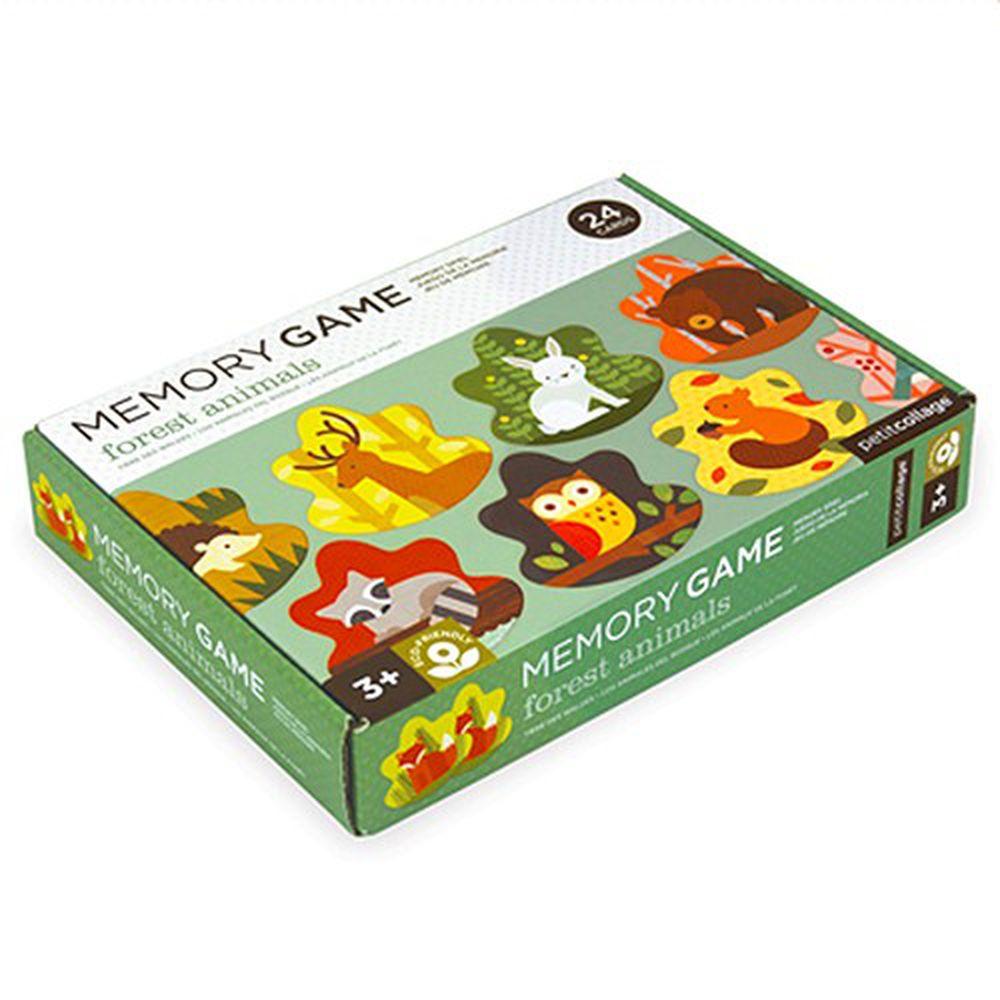 美國 Petit Collage - 記憶遊戲-森林動物
