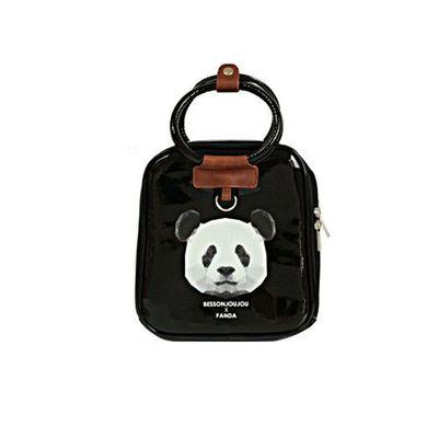 星星保溫保冷兒童包-熊貓-黑色