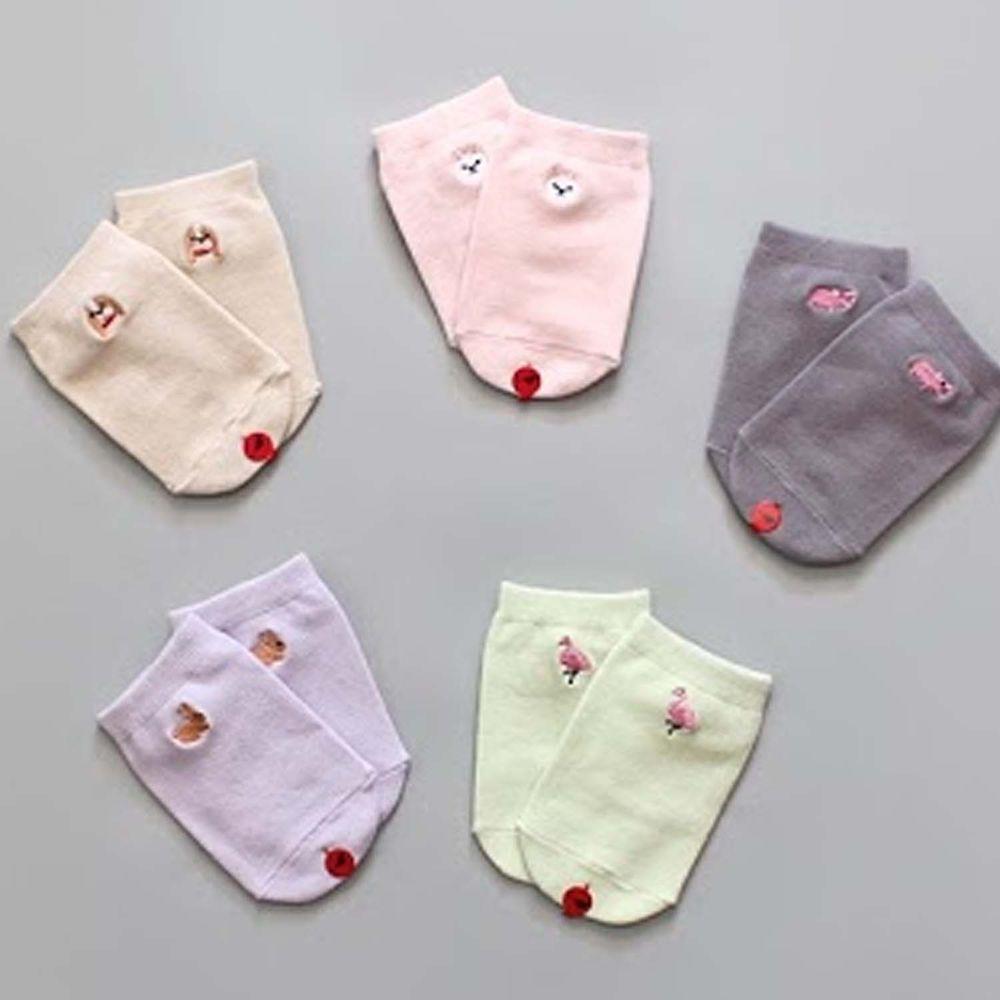 韓國 Kokacharm - 韓國製船型襪-五件組-Good socks
