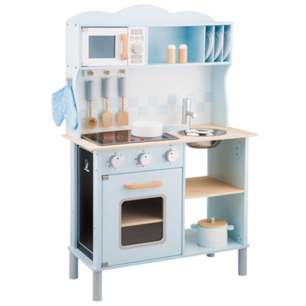 荷蘭 New Classic Toys - 【超人氣推薦】聲光小主廚-經典藍-(含配件12件)