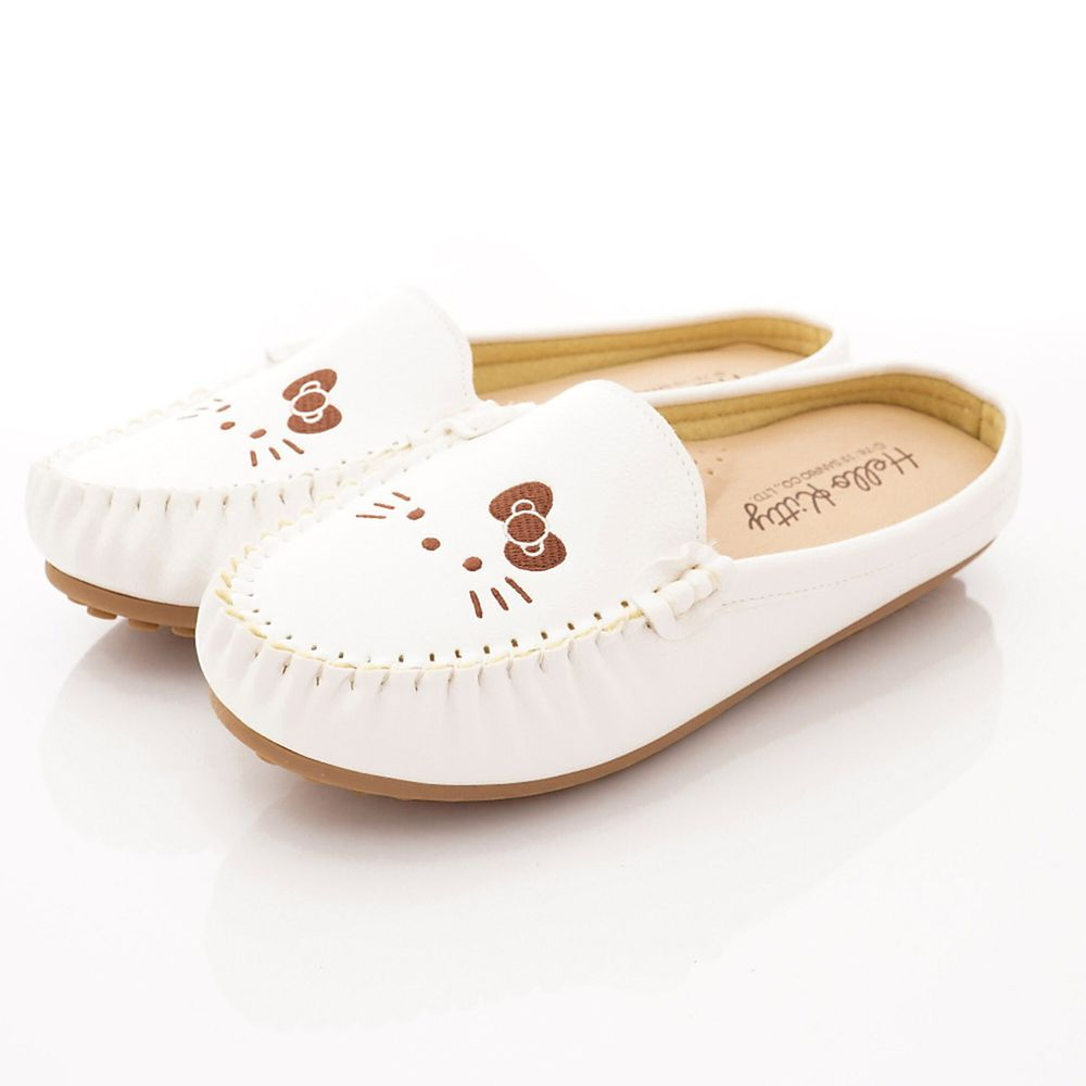 HELLO KITTY - 卡通童鞋-皮質軟Q便鞋款(大童親子段)-白-日本尺寸cm