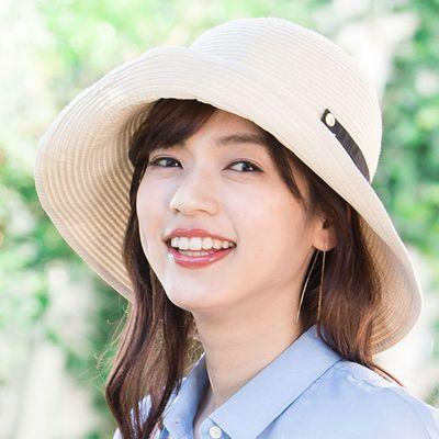 【irodori】抗UV可捲收 藤編遮陽帽