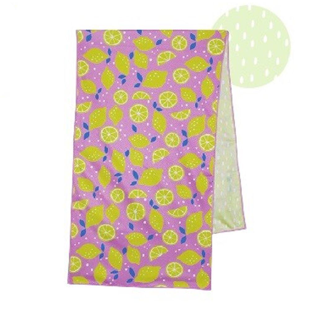 日本現代百貨 - 抗UV水涼感巾(附收納罐)-檸檬-粉黃 (30x100cm)