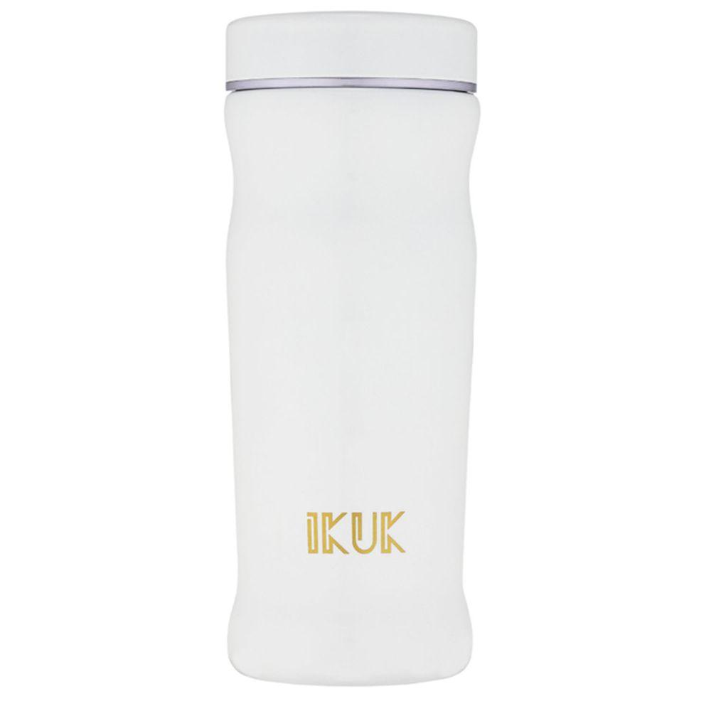 IKUK - 真空雙層內陶瓷曲線保溫杯-白色 (300ML)