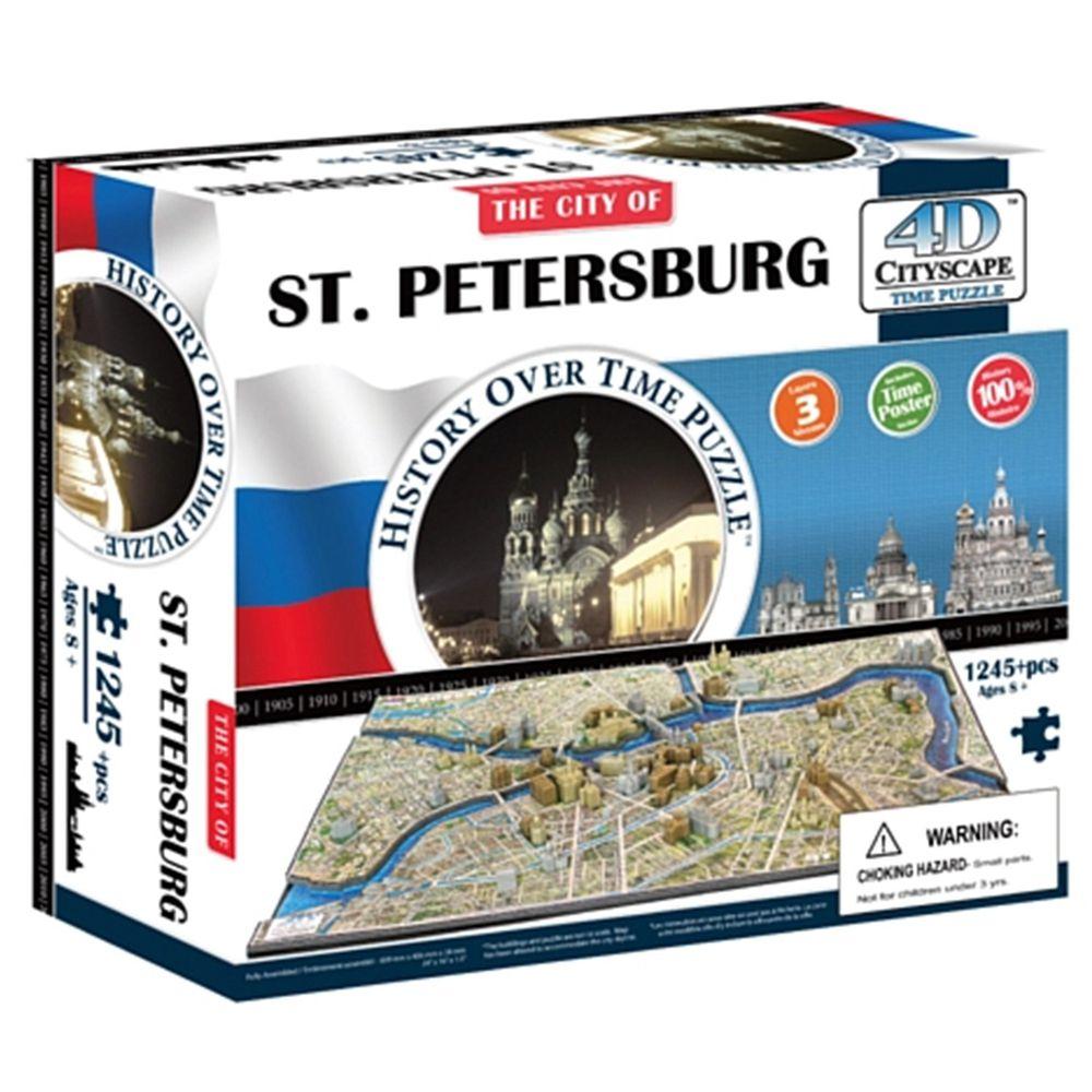 4D Cityscape - 4D-城市拼圖-聖彼得堡-1245片