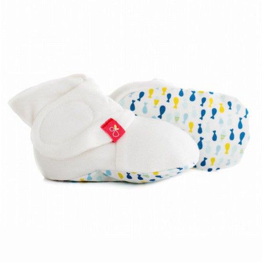 美國 GOUMIKIDS - 有機棉嬰兒腳套-小小魚-萌漾
