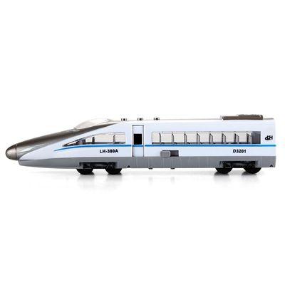 小小鐵道迷-磨輪聲光高速火車-白色