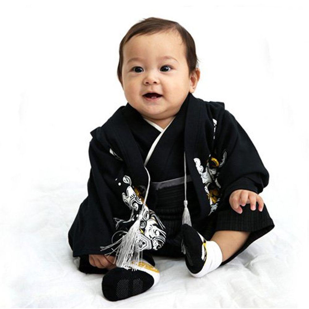 日本服飾代購 - 純棉日本傳統袴 和服(連身衣式)-波紋-漆黑