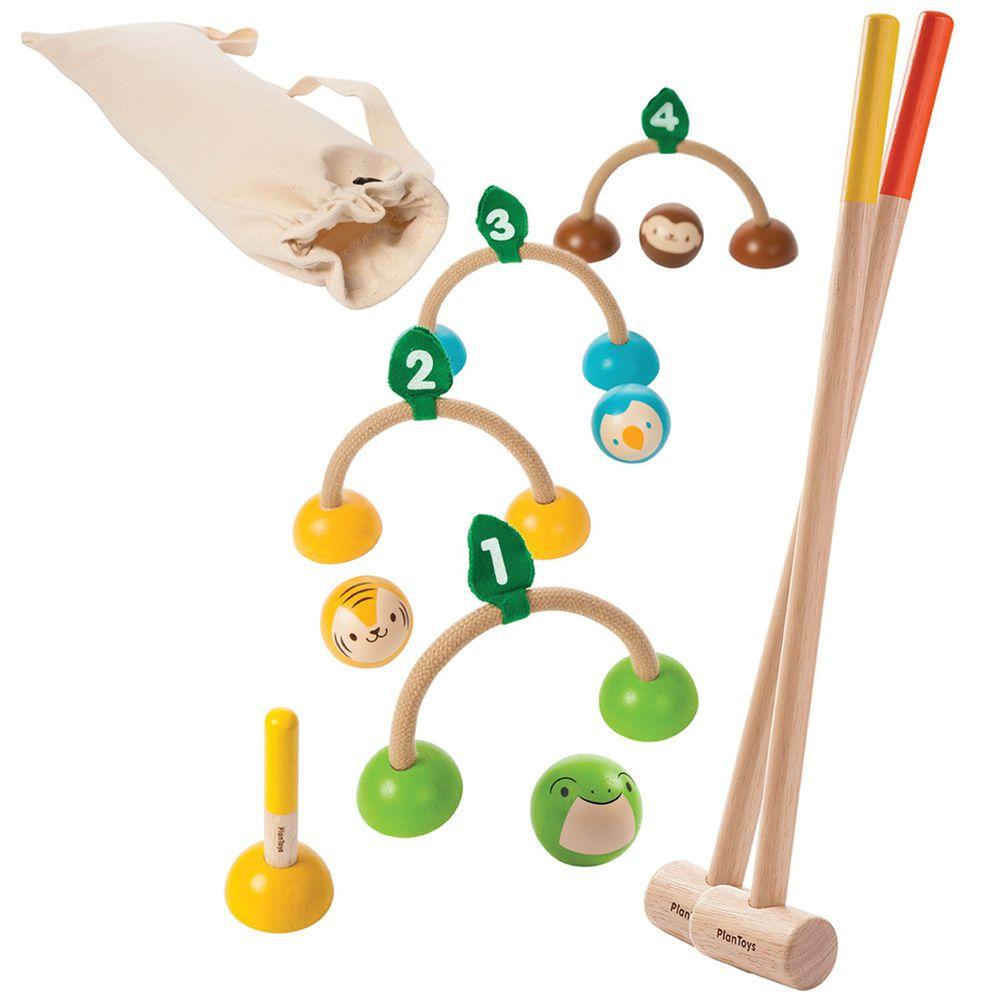泰國 Plantoys - 經典木作童玩-槌球組