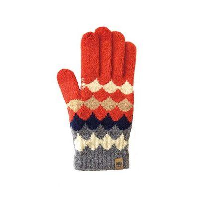 日本製可觸控式保暖手套-大人款-紅菱格紋