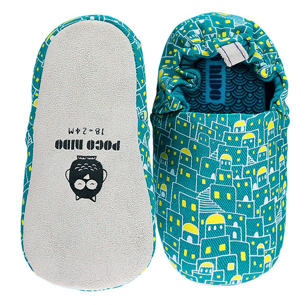 英國 Poconido - 寶寶手工鞋/學步鞋-浪漫希臘-夜