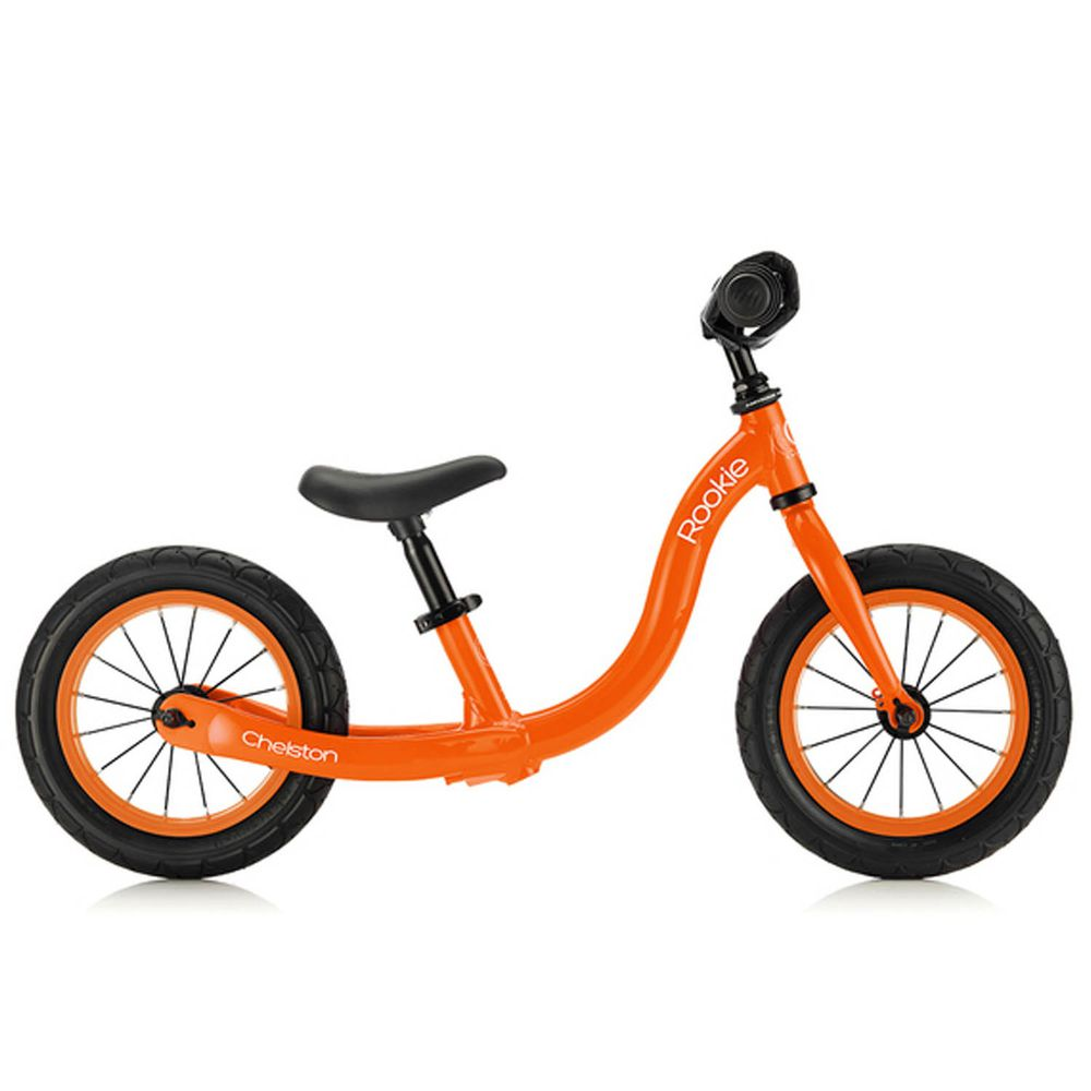 Chelston bikes - Rookie 平衡滑步車-柳橙橘-平衡滑步車 x 1 , 3 歲以下專用ABS氣嘴蓋 x 1
