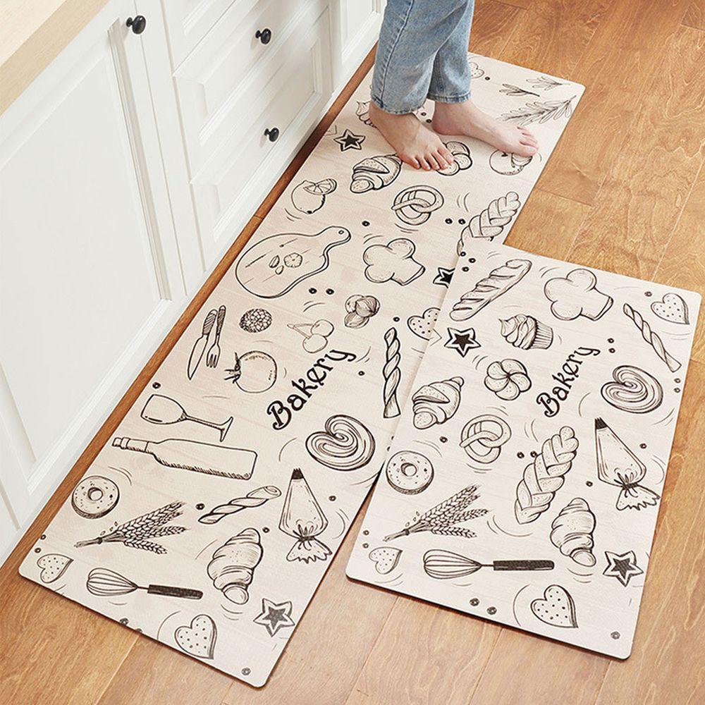 廚房仿皮革PVC防水腳踏墊-麵包店