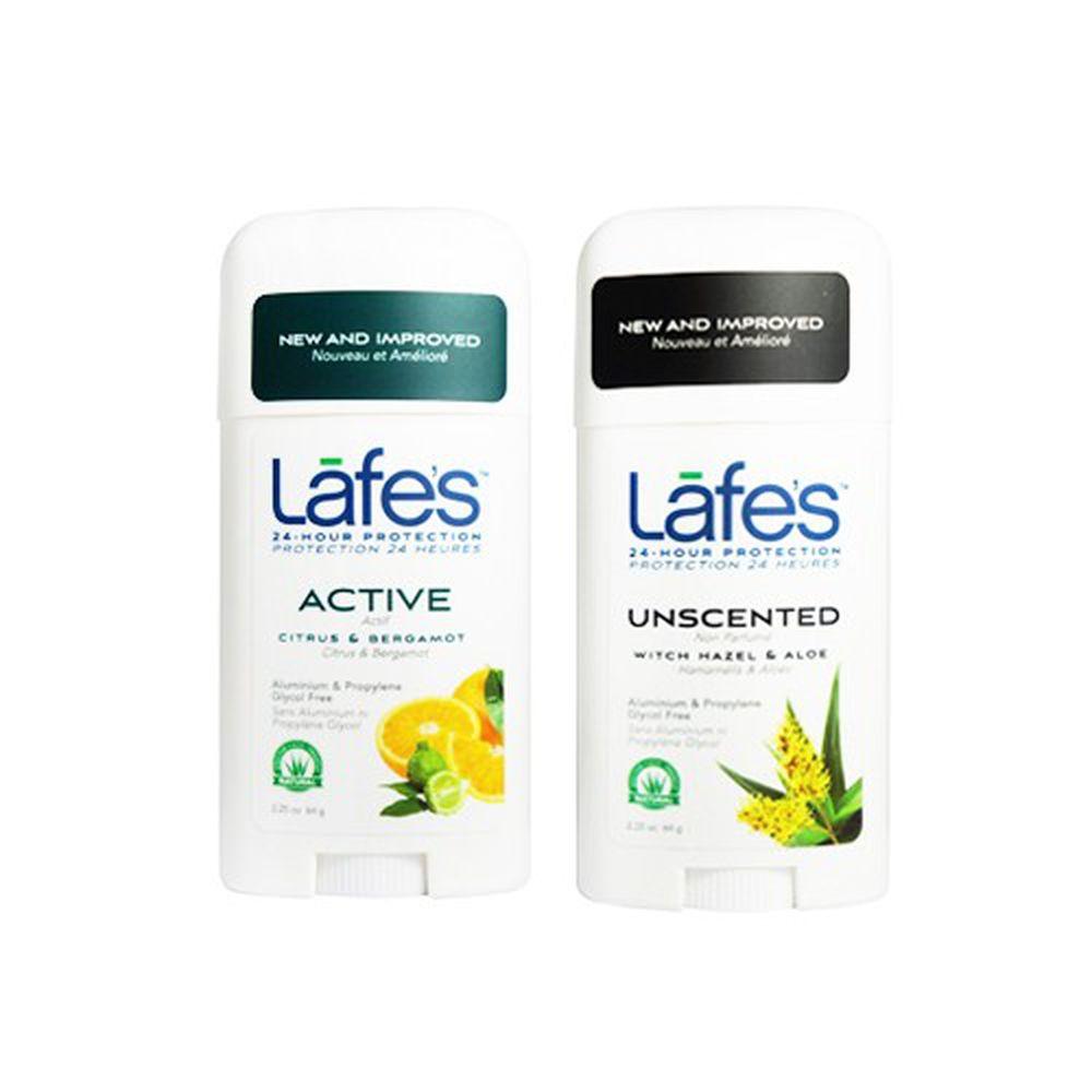 美國 Lafe's organic - 純自然體香膏雙入組-無味+運動