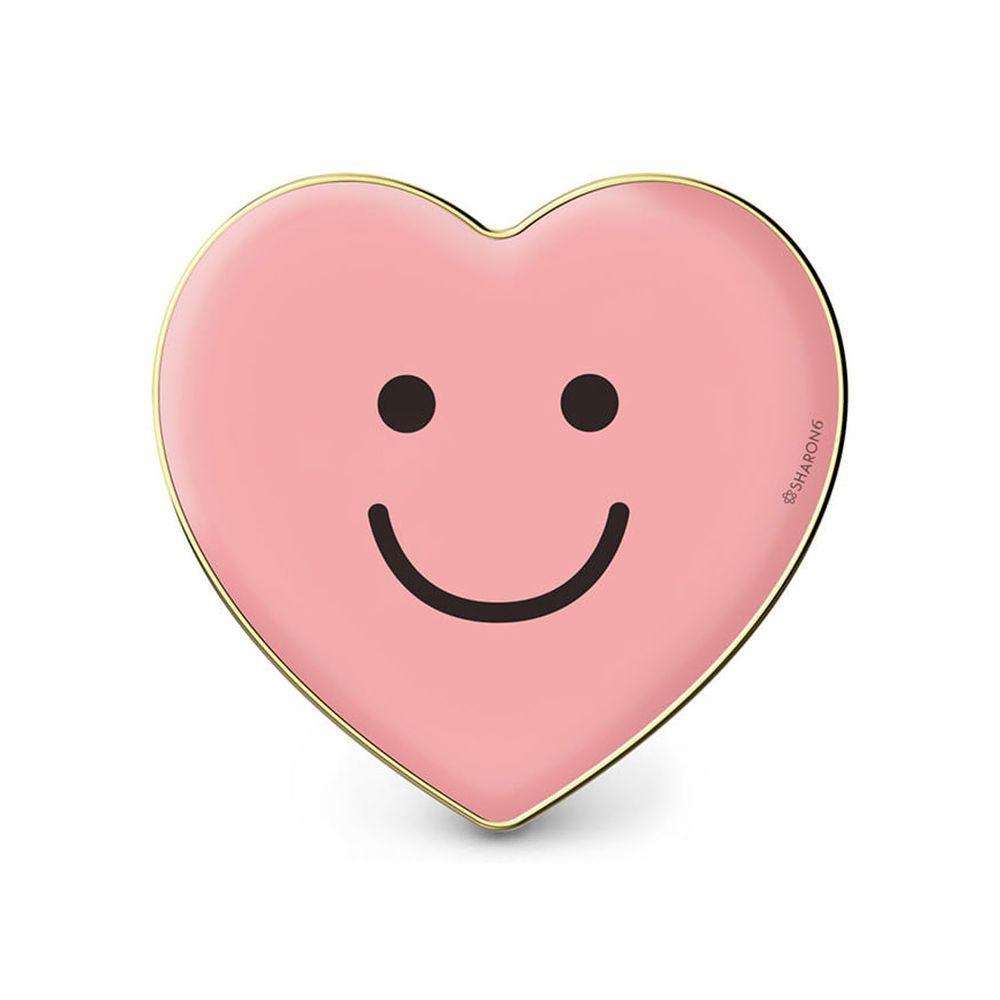 韓國 SHARON6 - 手機氣囊支架-愛心款-粉紅笑臉